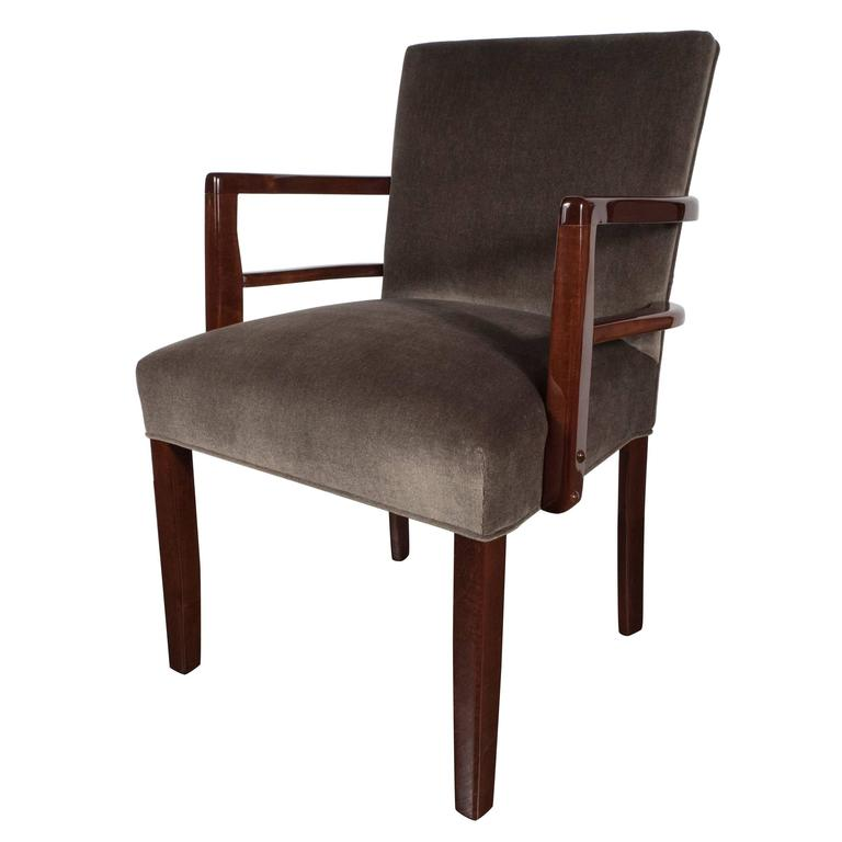 Art Deco Office Chair: Art Deco Occasional / Desk Chair In Tobacco Mohair And