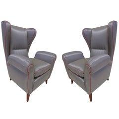 Pair of 1960s Italian Wing Chair Paolo Buffa Style, Mid-Century Modern