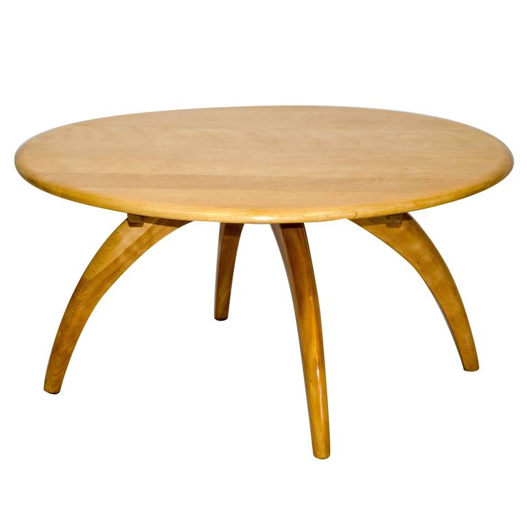 Round Lazy Susan Cocktail or Coffee Table by Heywood Wakefield