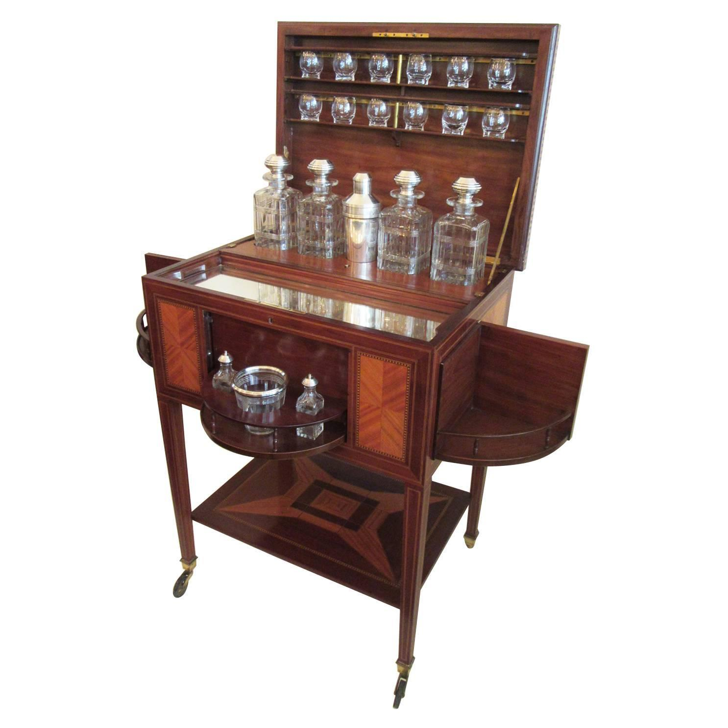 19th C French Art Deco Drinks Cabinet By Maison Boin