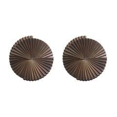 Pair of Medium Fan Sconce Sculptures by Fabio Ltd