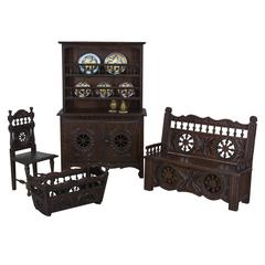 Collection of French Doll Furniture