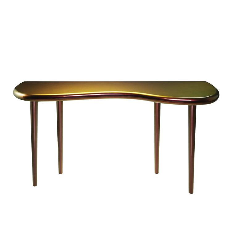 Andrienne Console Table Lacquered with Chameleon Paint by