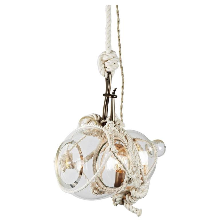 Small Knotty Bubbles Pendant (small) by Lindsey Adelman for Roll and Hill For Sale
