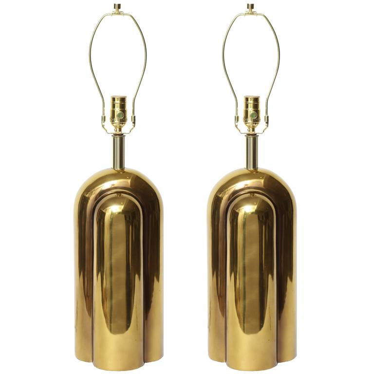 Modernist Brass Lamps by Westwood Industries 1