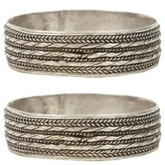 Pair of Moroccan Berber Tribal Bracelets