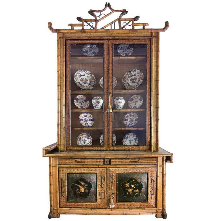 Perret et Vibert Japonais Bamboo Cabinet 1