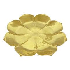 Gilt Art Deco Lotus Tazza by Marie Zimmermann