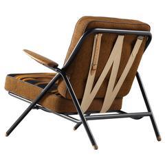 Hans Wegner 'GE215' Sawbuck Lounge Chair with Original Upholstery