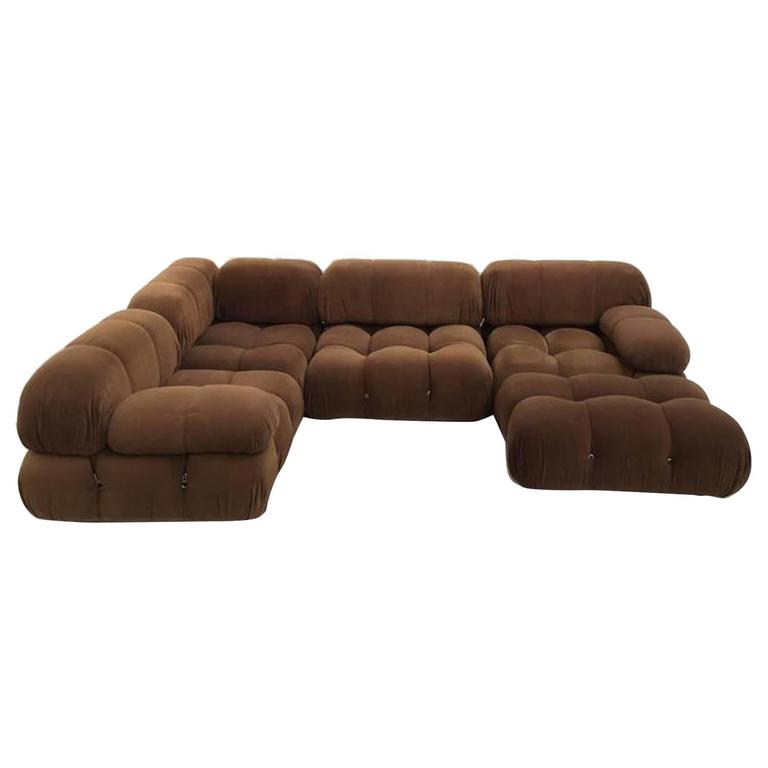 chocolate brown mario bellini camaleonda 39 39 modular sofa. Black Bedroom Furniture Sets. Home Design Ideas