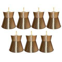 Up to a Set of Seven Starlite Medium Pendant Lamps
