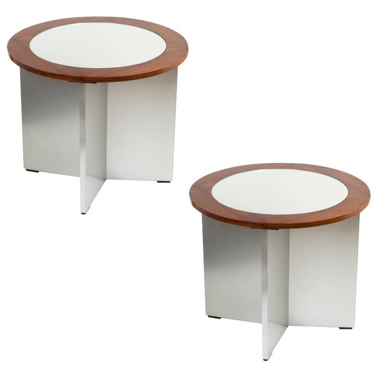 Pair of Rare Modernist Side Tables by Jansen, 1970s