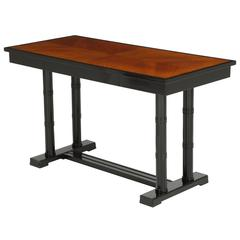 Swedish Art Deco Ebonized and Elm Writing Table, circa 1920s