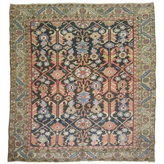 Square Antique Persian Heriz Rug