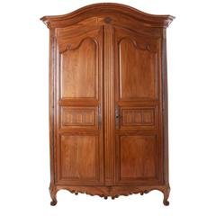 French 19th Century Fruitwood Armoire