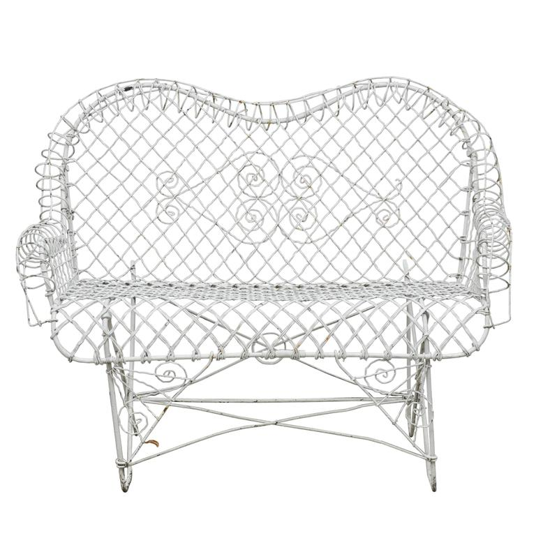 Astonishing Antique Wire Garden Loveseat At 1Stdibs Pabps2019 Chair Design Images Pabps2019Com