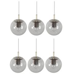 1/6 Small 'Licht-Drops' Globe Pendant by RAAK Amsterdam 1960s