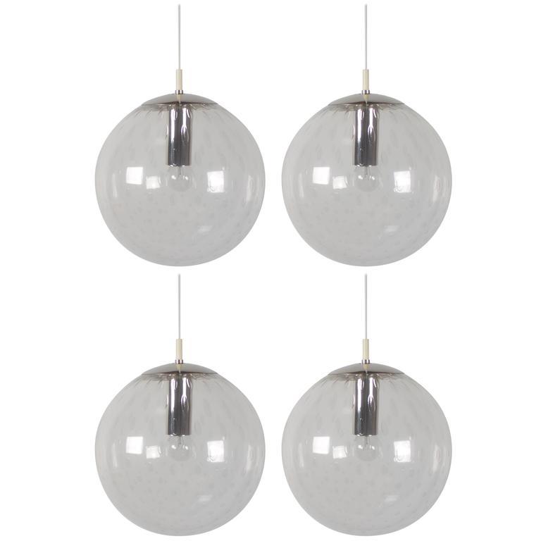 Large 'Licht-drops' Globe Pendant by RAAK Amsterdam, 1960s
