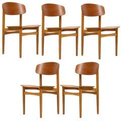 Børge Mogensen Set of Model 122 Chairs by Søborg