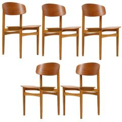 Børge Mogensen Set of Model 122 Chairs by Søborg