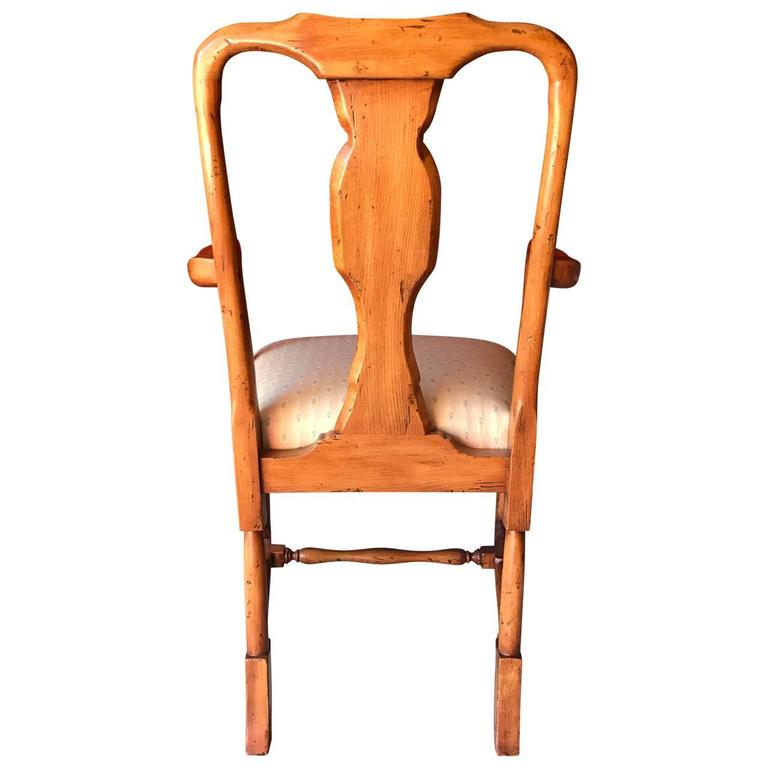 Set of Eight Queen Anne Style Dining Chairs at 1stdibs
