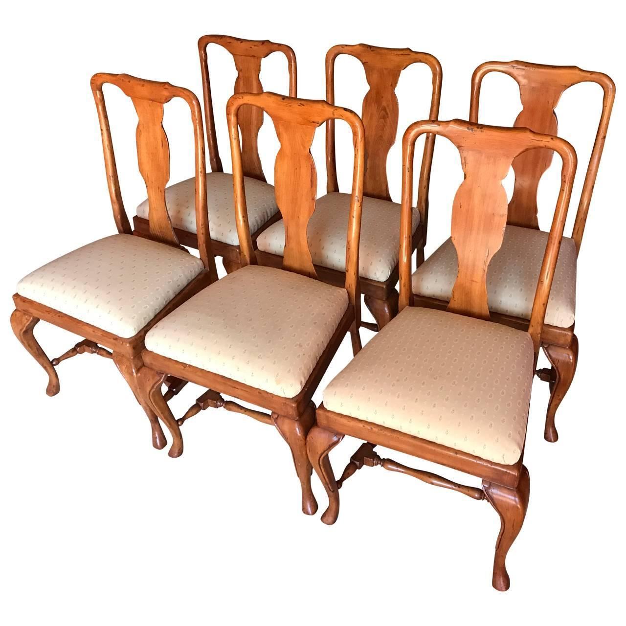 Set of Eight Queen Anne Style Dining Chairs For Sale at  : PhotoOct10122345PMz from www.1stdibs.com size 1280 x 1280 jpeg 130kB