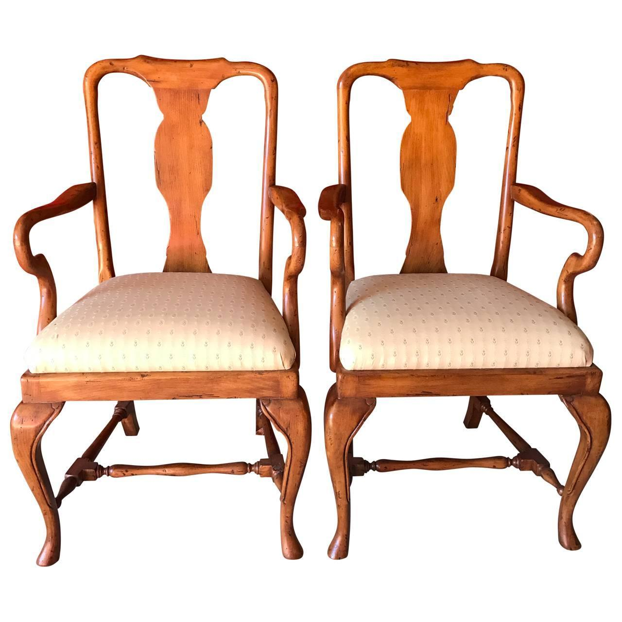 Set of eight queen anne style dining chairs for sale at 1stdibs - Queen anne dining room furniture ...