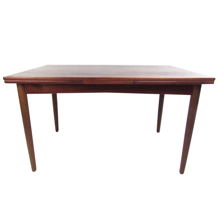 Mid-Century Danish Rosewood Expandable Dining Table by N.O. Moller