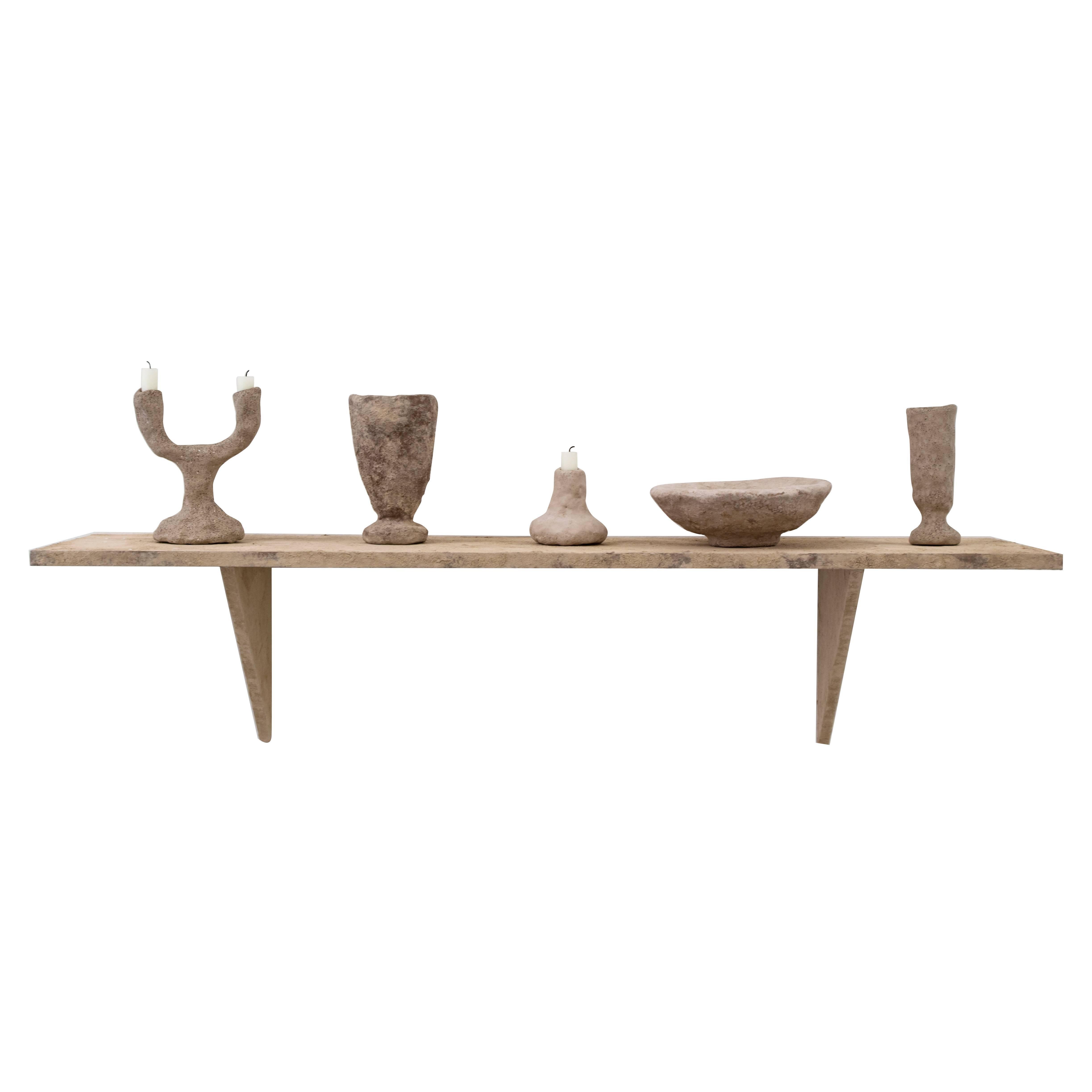 Stoned Shelf with Objects, 'Stoned' Series by Fredrik Paulsen