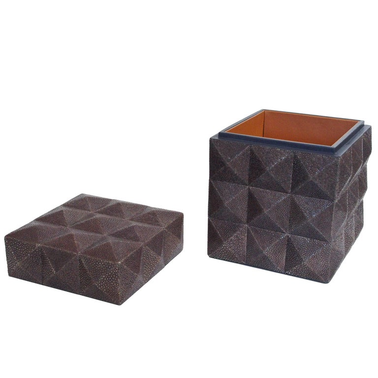 Pyramid Gray Shagreen Box by Fabio Ltd