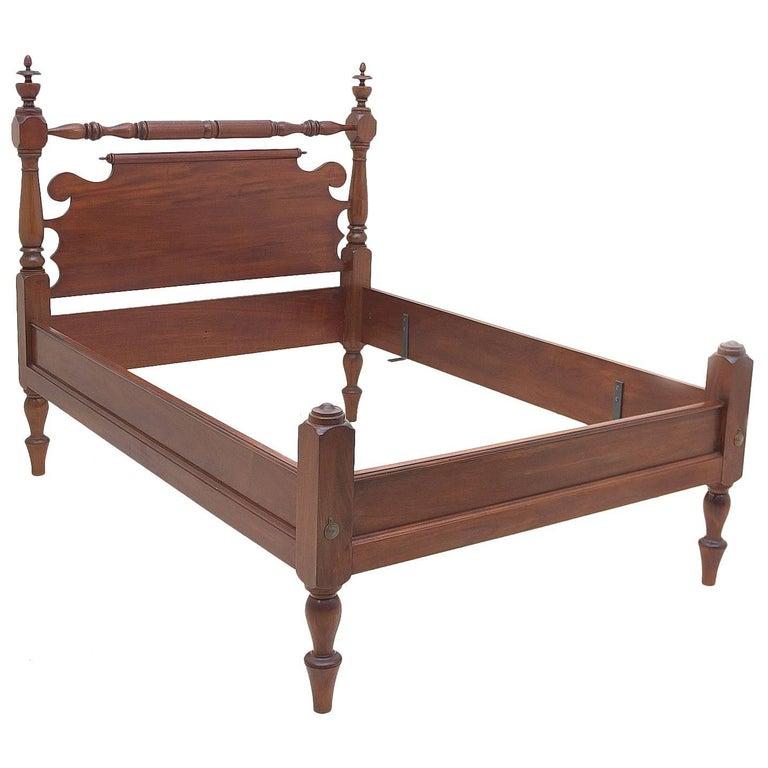 Bonnin Ashley Custom Made Full-Size Cannonball Bed in Poplar For Sale