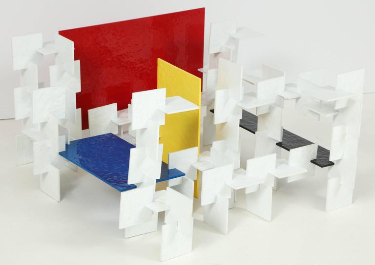 Fran Taubman Prototype Coffee Table, Multi-Colored Hammered Aluminum, 2012 6