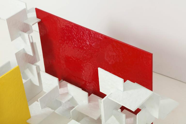 Fran Taubman Prototype Coffee Table, Multi-Colored Hammered Aluminum, 2012 10