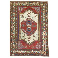 Antique Pictorial Kazak Rug / Collector Level