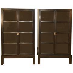 Pair of Widdicomb Mahogany Glass Front Cabinets