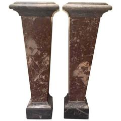 Pair of 19th Century French Marble Columns