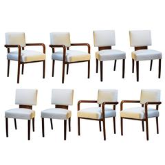 Gino Levi Montalcini Set of Eight Chairs and Armchairs, 1938