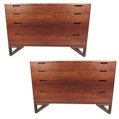 Pair of Mid-Century Modern Danish Rosewood Dressers