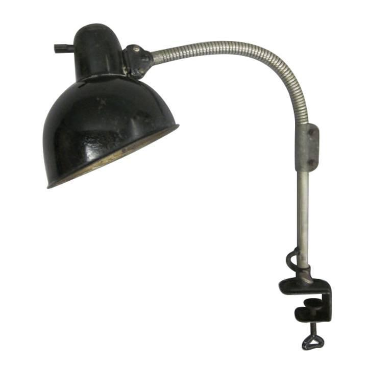 German Early Modern Bauhaus Desk Clamp Task Lamp Model 6740 By Dell For