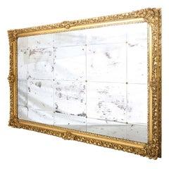 Monumental 19th Century Baroque Giltwood Wall Mirror, 9 foot x 6 foot