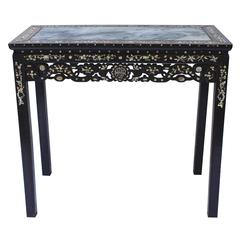 Mother of Pearl and Hardwood Altar Table