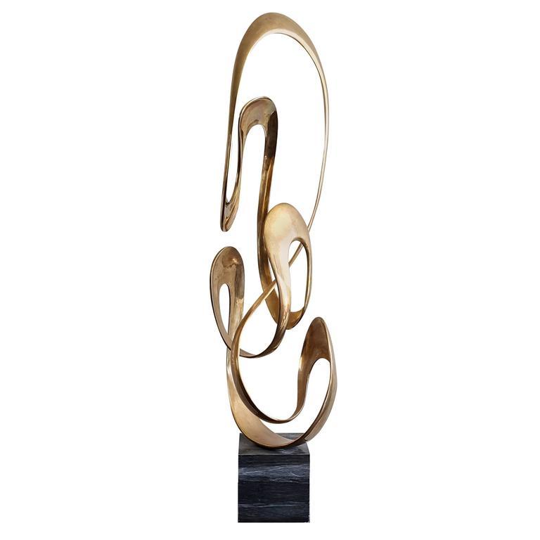 Monumental Tom Bennett Brass Sculpture Expressway LG For Sale