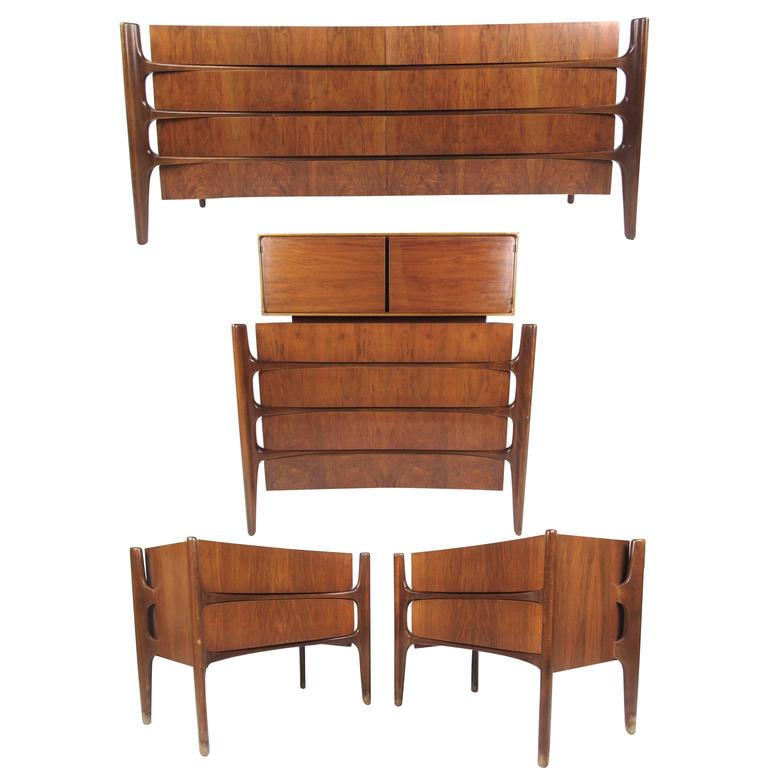 Mid century modern bedroom set by edmond j spence for - Midcentury modern bedroom furniture ...