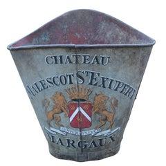 19h Century French Zinc Grape Hod