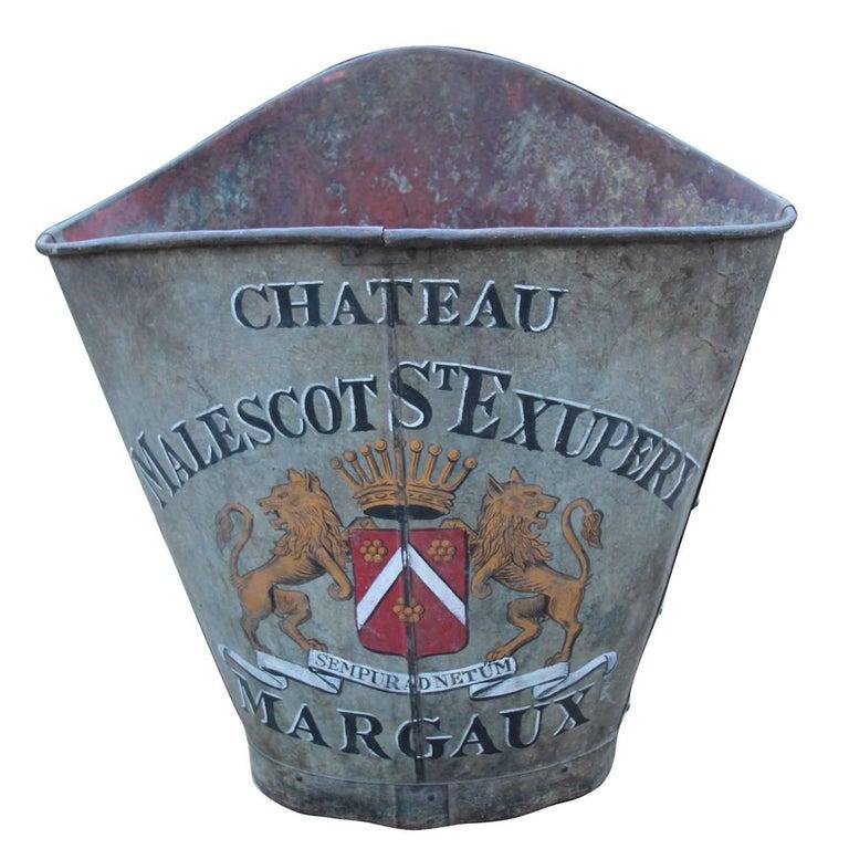 19h Century French Zinc Grape Hod 1