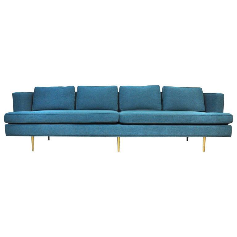 Dunbar Brass Leg Sofa by Edward Wormley For Sale