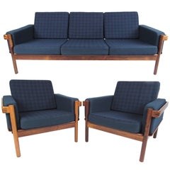 Scandinavian Modern Living Room Set With Sofa and Chairs
