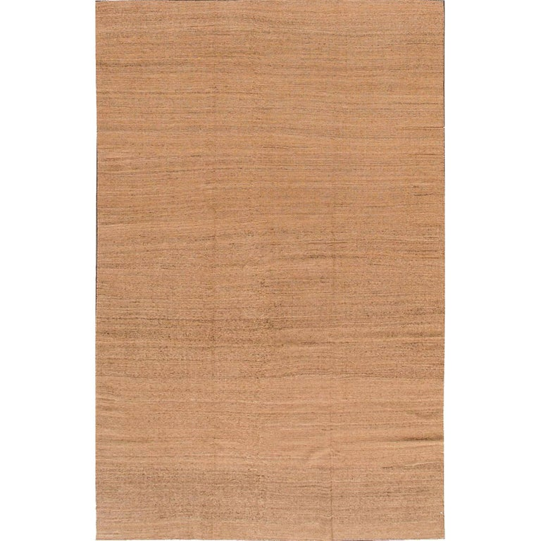 21st Century Modern Brown Turkish Kilim Area Rug