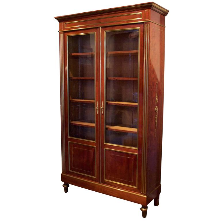 19th Century French Bibliotheque in Mahogany 1