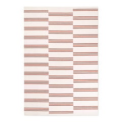 Modern Dhurrie/Kilim Rug in Scandinavian Design, Available in many sizes.